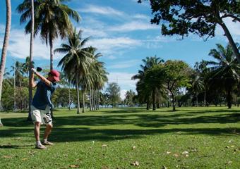 美しい9ホールのゴルフコース