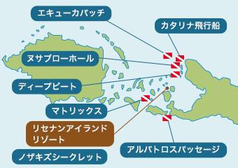 ケビエンのダイビングポイントマップ